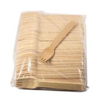 Perfect Stix Green Fork 158-200ct Wooden Disposable Cutlery Forks, 6