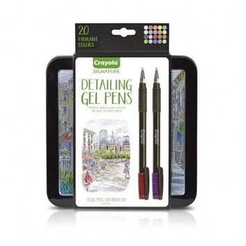 Crayola Signature Detailing Gel Pens 20ct, Multi-Colored