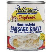 PATTERSON'S DAYBREAK SAUSAGE GRAVY W/FRESH GROUND PORK - 12/8 OZ CANS