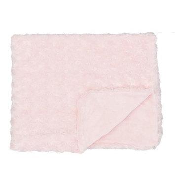 Rose Textile 1792 Curly Plush Blanket Pink