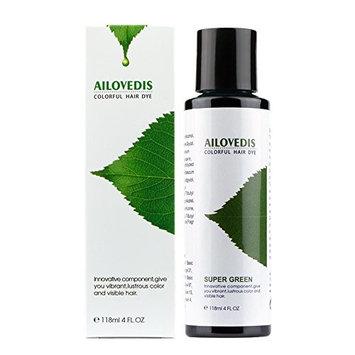 AILOVEDIS 4 fl oz Super Green Semi Permanent Hair Color Dye Long Lasting Unisex Hair Dye