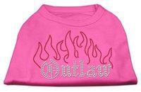 Mirage Pet Products 5252 MDBPK Outlaw Rhinestone Shirts Bright Pink M 12