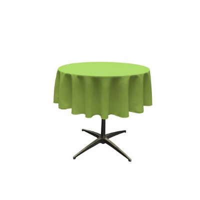 LA Linen TCpop51R-LimeP84 Polyester Poplin Tablecloth Lime - 51 in. Round
