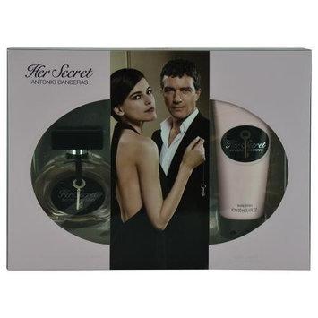 Antonio Banderas 246176 Her Secret EDT Spray 2.7 oz & Body Lotion 3.4 oz