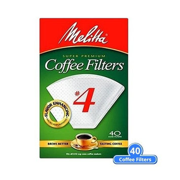 Melitta No. 4 Cone Coffee Filters, Natural Brown, 40 Count