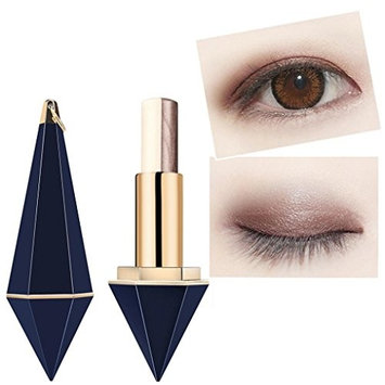 Two-color Eye Shadow,Mandystore 3.8g Two-color Eye Shadow Stick Eye-modified Eyeshadow Pen Hit The Pearl Eye Shadow