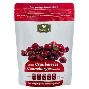 Basse Nuts Basse Dried Fruits Cranberries (1lb.) Eat Healthier With This Good Snack; Crazy Cranium-Cracking Cranberries! (4x16oz)