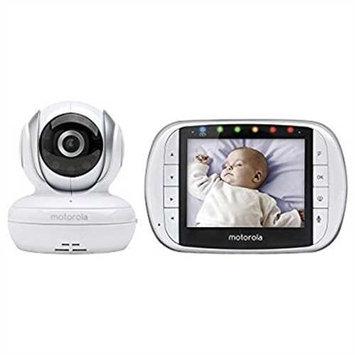 Refurbished Motorola MBP33XL Digital Video Baby Monitor 3.5 Color Screen White Night Vision