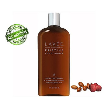 Lavée Pristine Organic Moisturizing | Nourishing Conditioner (8 oz) - Features Argan oil and Buriti oil - Extremely gentle - Gluten Free, Sulfate Free, Paraben Free and Vegan