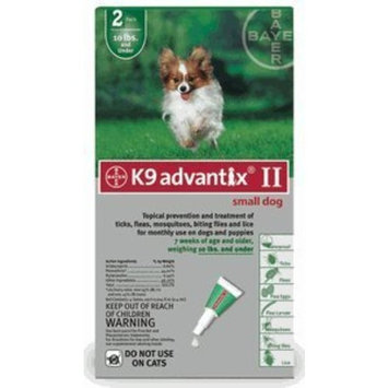 Bayer Animal Health K9 Advantix II Flea, Tick and Mosquito prevention [2 doses]