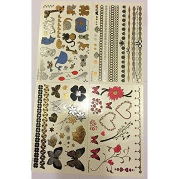 Twink Designs - Metallic Temporary Tattoos for Kids (Girls)
