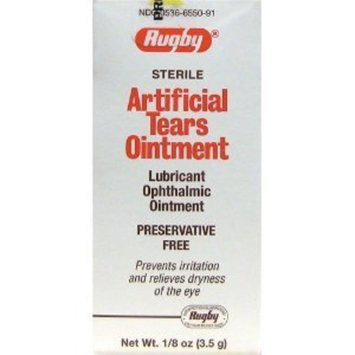 Rugby Artificial Tears Ointment 1/8 oz (Pack of 2)