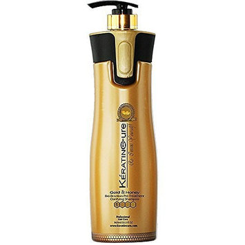 Keratin Cure Gold and Honey Clarifying Shampoo Deep Cleansing Hair Best Quality Safety & REAL results Anti-Residue moisturizing ingredients Lightweight & non greasy 960ml / 32 fl oz