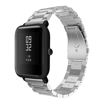 SHL Classical Stainless Steel Sports Strap Wrist Band Replacement For Huami Amazfit Bip Youth Watch