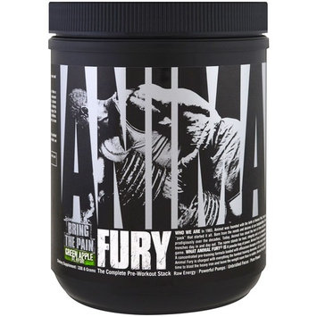 Universal Nutrition, Animal Fury, The Complete Pre-Workout Stack, Green Apple , 330.6 g [Flavor : Green Apple]