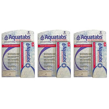 Medentech Aquatab's water Purification Tablets 3 30 packs- 90 Total US EPA Approved drinking water purification