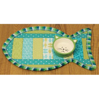 June Tailor Quilt As You Go Pet Placemat-Cat 11'X18'