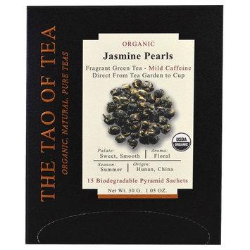 The Tao of Tea, Organic Jasmine Pearls, 15 Pyramid Sachets, 1.05 oz (30 g) [Flavor : Jasmine Pearls]