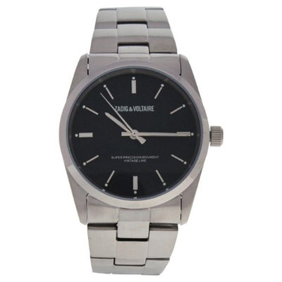 Zadig & Voltaire Zvf226 Black Dial/Silver Stainless Steel Bracelet Watch Watch For Unisex 1 Pc