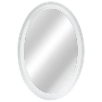 Home Decorators Collection 21 in. W x 31 in. L Framed Fog Free Wall Mirror in White