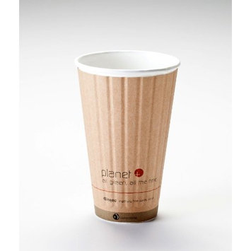 16 Oz. Biodegradable Hot Drink Cup PLA Lined Built-in Heat Sleeve (Pack of 280)