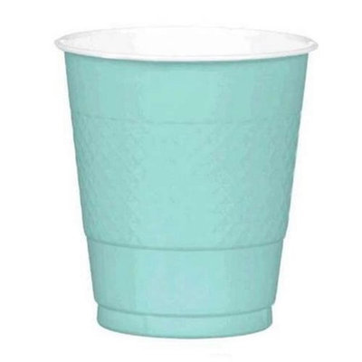 Amscan 43036.121 12 oz. Plastic Cup Robins Egg Blue - Pack of 200