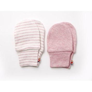 Agabang giggle Organic Cotton Baby Mitts - Heathered Pink 2-Pack