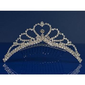 SparklyCrystal Princess Bridal Wedding Tiara Comb 48105