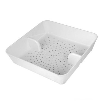 Excellante Floor Drain Strainer, Abs, 8-1/2-Inch by 8-1/2-Inch by 2-1/4-Inch