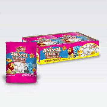 Xel-ha,llc Grace animal ice vanilla cookie 1 oz (6 Cookies) - Galleta de Vainilla (Pack of 3)