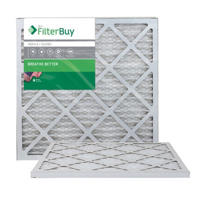 AFB Silver MERV 8 20x22x1 Pleated AC Furnace Air Filter. Filters. 100% produced in the USA. (Pack of 2)