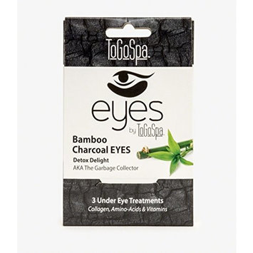 Bamboo Charcoal EYES by ToGoSpa – Premium Anti-Aging Collagen Gel Pads for Puffiness, Dark Circles, and Wrinkles – Under Eye Rejuvenation for Men & Women - 1 Pack - 3 Pair