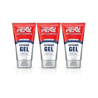 3X BRYLCREEM EXTREME ULTIMATE HOLD GEL 150ML MENS HAIR STYLING VITAMIN B5 by Brylcreem
