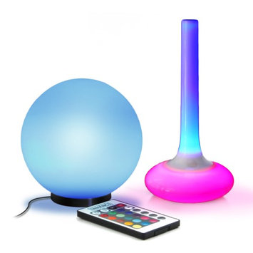 ENHANCE Portable Color Decorative Mood Lamp Flashlight Bundle with Wireless Remote Control