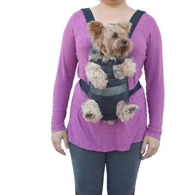 Dog Cat Nylon Pet Puppy Dog Carrier Backpack Front Tote Carrier Net Bag (Gift for Pet) - Black
