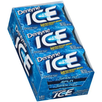 Dentyne Sugarless Gum, Peppermint Flavor, 12 Pieces/pack, 12 Packs per Box