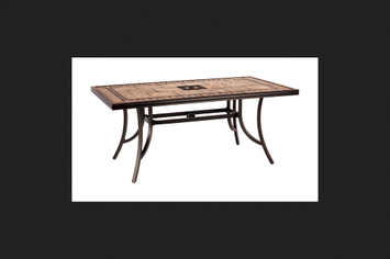 Living Accents Cassara 38in x 68in Grouted Tile Table