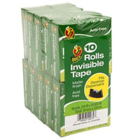Duck Brand Matte Finish .75 In. x 1000 In. Invisible Tape - Clear, 10 pack