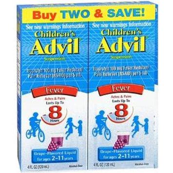 Advil Children's Fever Ibuprofen Liquid Suspension, Grape