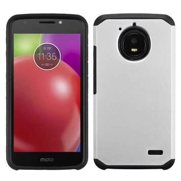 For Motorola Moto E4 Silver/Black Astronoot Shockproof Phone Protector Cover