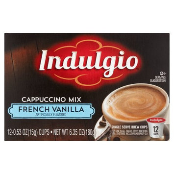 Trilliant Indulgio French Vanilla Cappuccino Single Serve Cups For Keurig K Cup Brewer, 12 Count