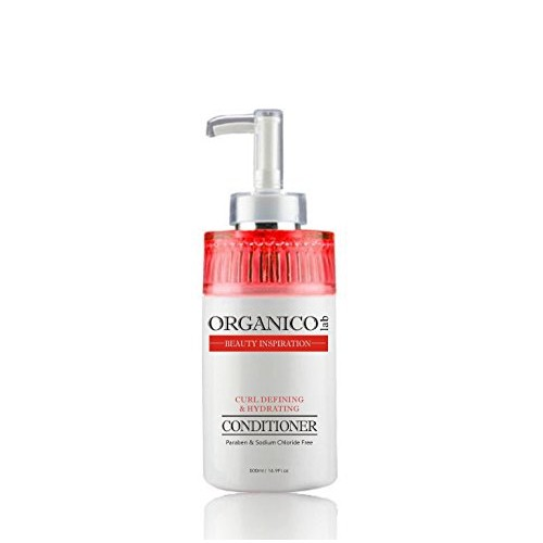 ORGANICOLAB, Sulfate Free, Curl Defining and Lush Hydrating Conditioner, With Avocado Oil, Grapefruit & Lemongrass Extracts, No Parabens or Sodium Chloride, Color & Straightener Safe, 16.9 Fl.oz