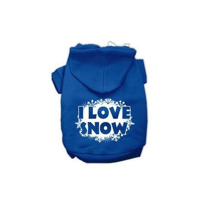 Mirage Pet Products I Love Snow Screenprint Pet Hoodies Blue Size XXXL (20)