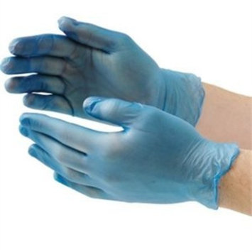 Vogue CB254-L Blue Vinyl Gloves, Size: Large (Pack of 100)