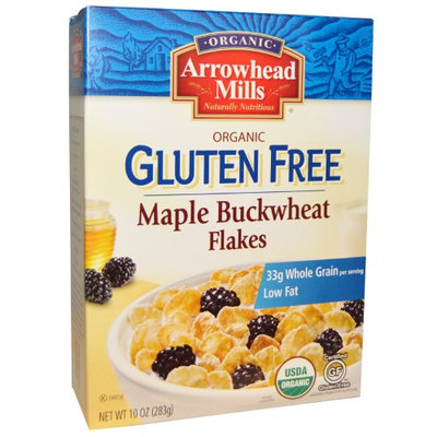Arrowhead Mills, Organic Maple Buckwheat Flakes, Gluten Free, 10 oz (pack of 12)
