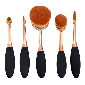 Yoseng Oval Foundation Brush 5 Pcs Toothbrush makeup brushes Fast Flawless Application Liquid Cream Powder Foundation