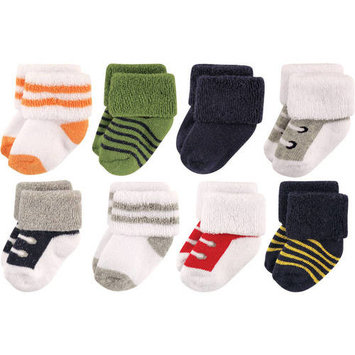 Baby Boys' Newborn Terry Socks 8-Pack