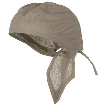 Tan Doo Rag Durag Chemo Headwrap Solid Color Khaki Bandana Cotton Skull Cap Mens Womens