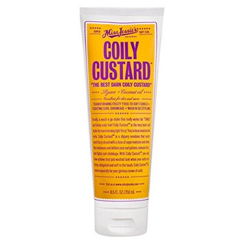 (PACK OF 6) MISS JESSIE'S COILY CUSTARD AGAVE & COCONUT OIL 8oz: Beauty