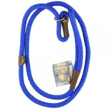 Mendota Products Mendota British Style Slip-Lead Dog Leash - Sapphire Diamond - 1/2 in x 6 ft